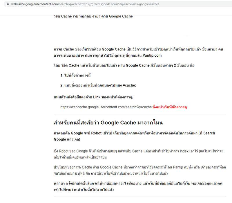 วิธี ดู Cache Google คือ