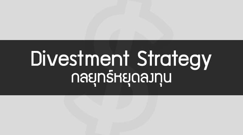 Divestment Strategy คือ กลยุทธ์หยุดลงทุน กลยุทธ์ไม่ลงทุน Strategy