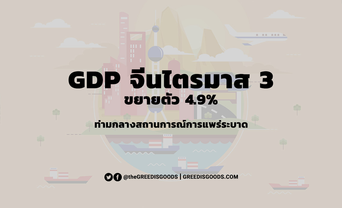 GDP จีน ไตรมาส 3 2563 2020 GDP จีนเติบโต