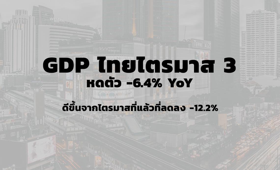 GDP ไทยไตรมาส 3 ปี 2563 หดตัว 2020