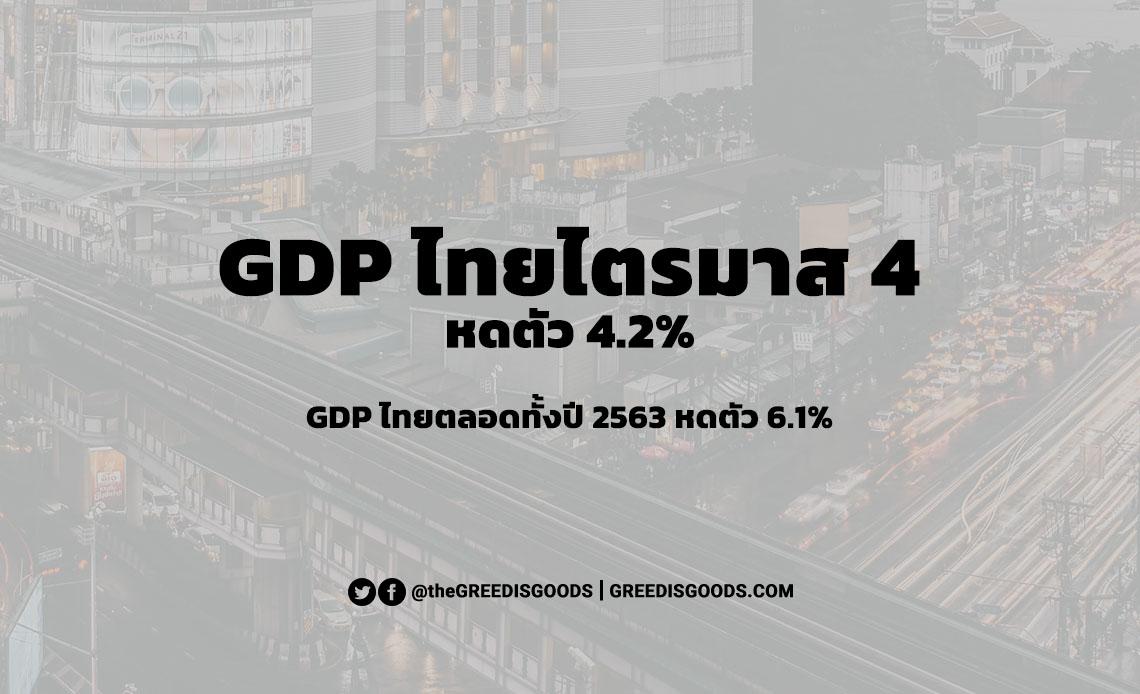 GDP ไทย ไตรมาส 4 ปี 2563 GDP ไทย 2563 ตลอดทั้งปี คาดการณ์ GDP ไทย 2564